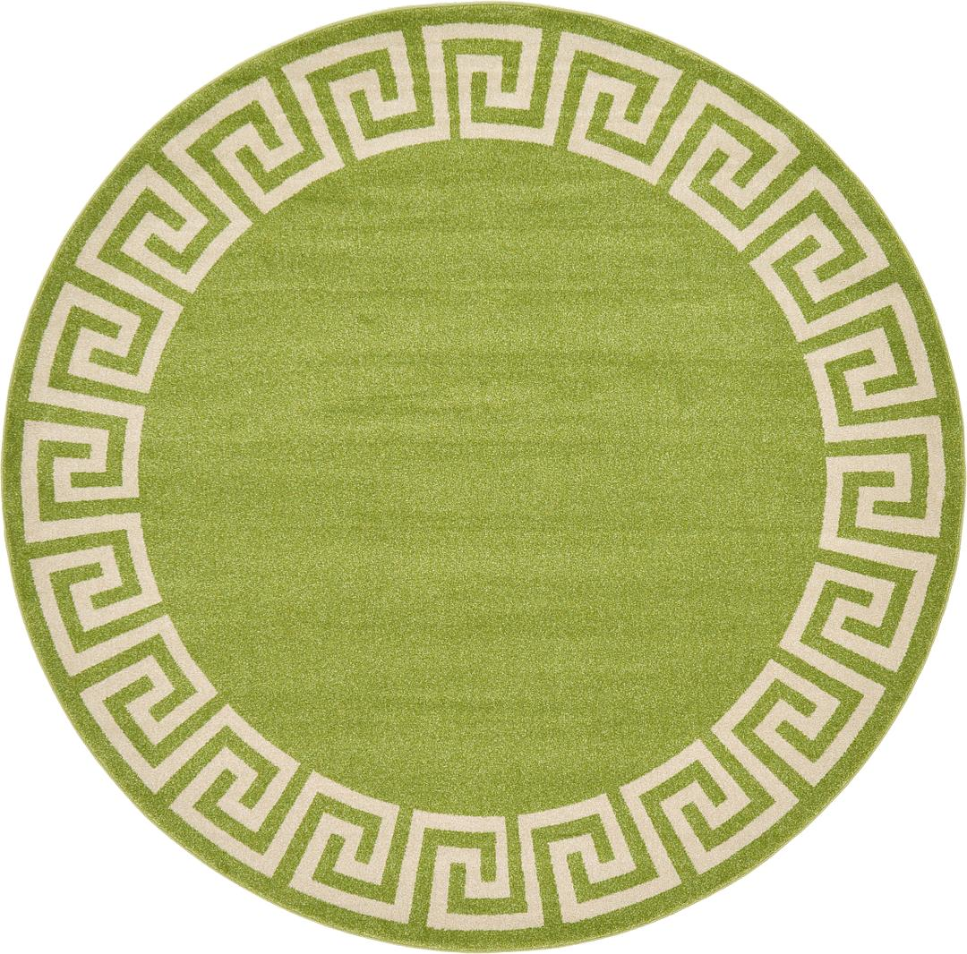 Green round rug rugs ideas for Round carpets and rugs