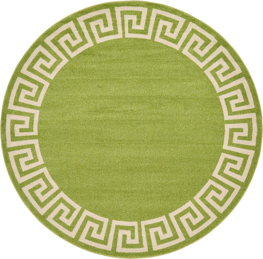 8 X Greek Key Round Rug