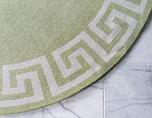 8' x 8' Greek Key Round Rug thumbnail image 9