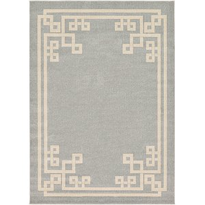 7' x 10' Greek Key Rug
