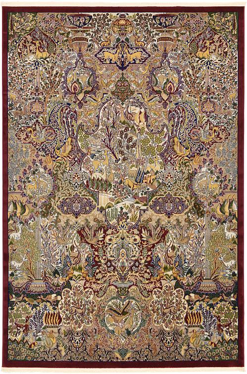 Burgundy 6 7 X 9 10 Kashmar Design Rug Area Rugs
