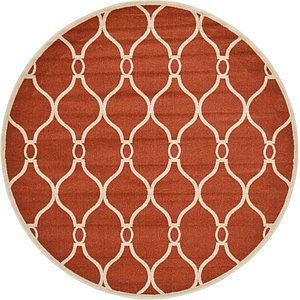 All Rounds Red Trellis  Rugs!