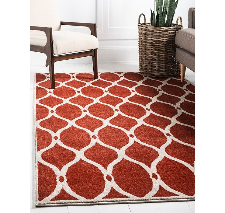 Terracotta Lattice Rug