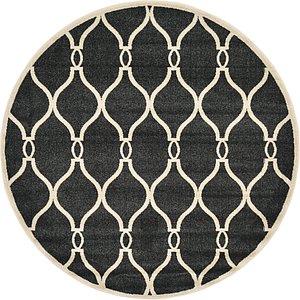 Unique Loom 6' x 6' Trellis Round Rug