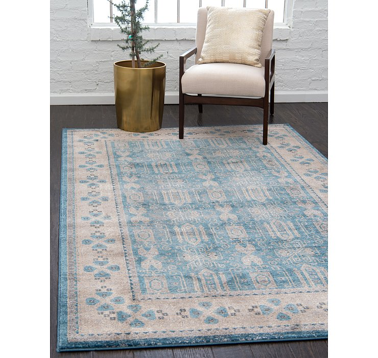 Light Blue Viola Rug