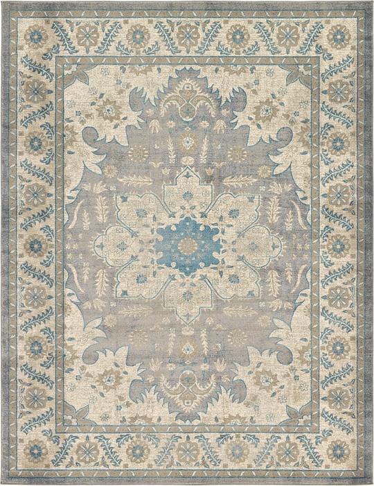 gray 9 39 x 12 39 vienna rug area rugs esalerugs. Black Bedroom Furniture Sets. Home Design Ideas