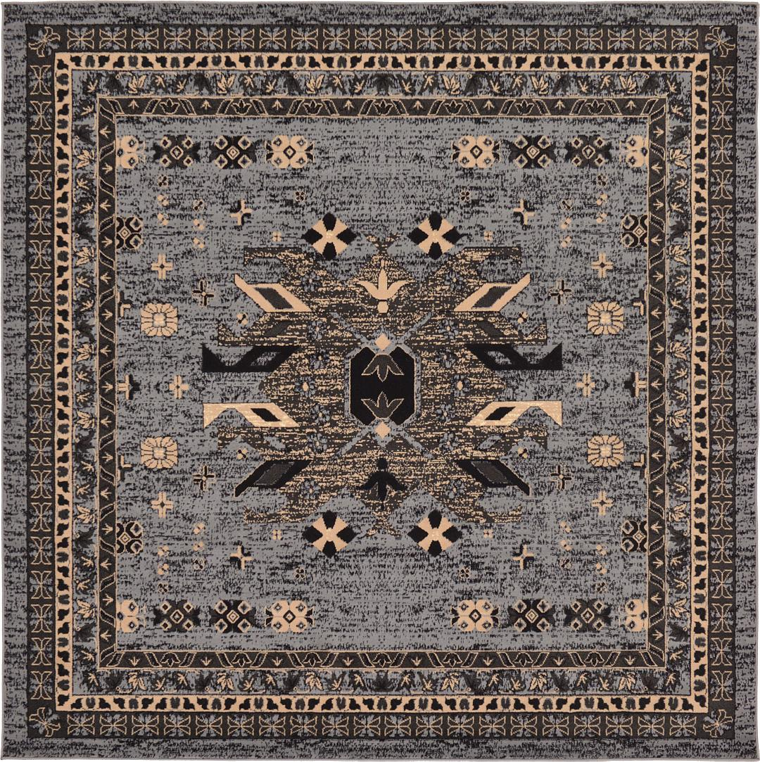 Gray 8 X 8 Heriz Design Square Rug Area Rugs Rugs Ca