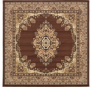Link to 8' x 8' Mashad Design Square Rug