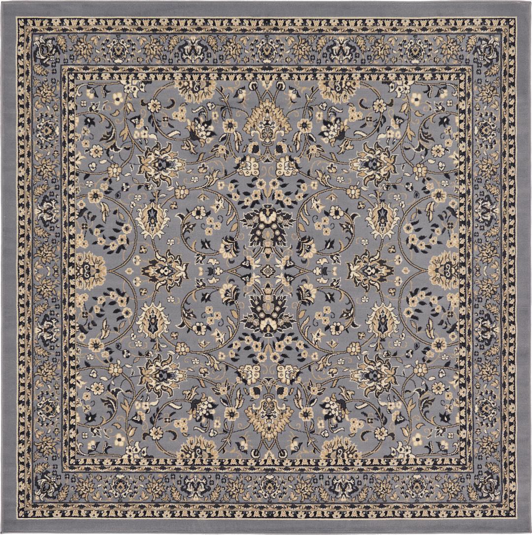 6292c9bb1f5 Gray 8  x 8  Kashan Design Square Rug