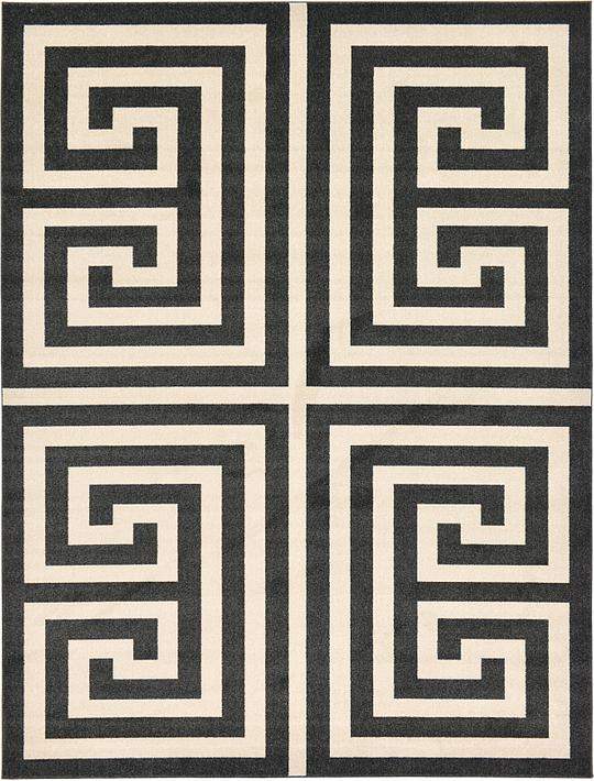 Black And White Greek Key Area Rug Rugs Ideas