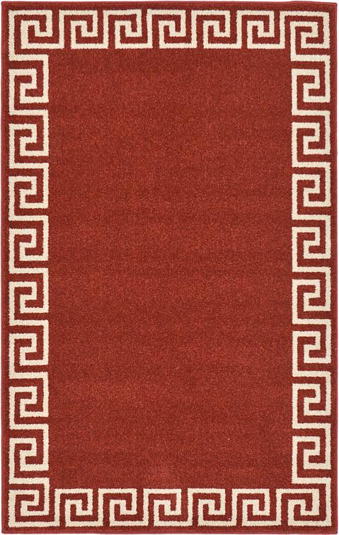 Terracotta 3 3 X 5 3 Greek Key Rug Area Rugs Esalerugs