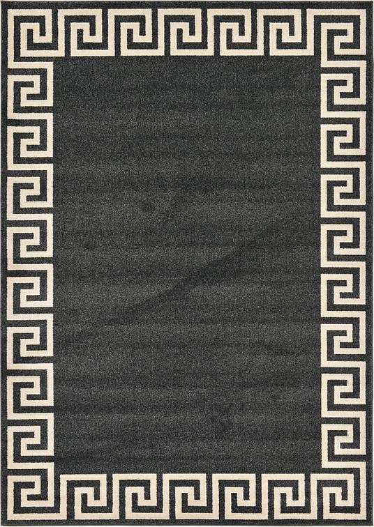 Charcoal 7 X 10 Greek Key Rug Area Rugs Esalerugs