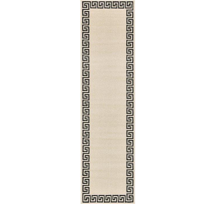 2' 7 x 10' Greek Key Runner Rug