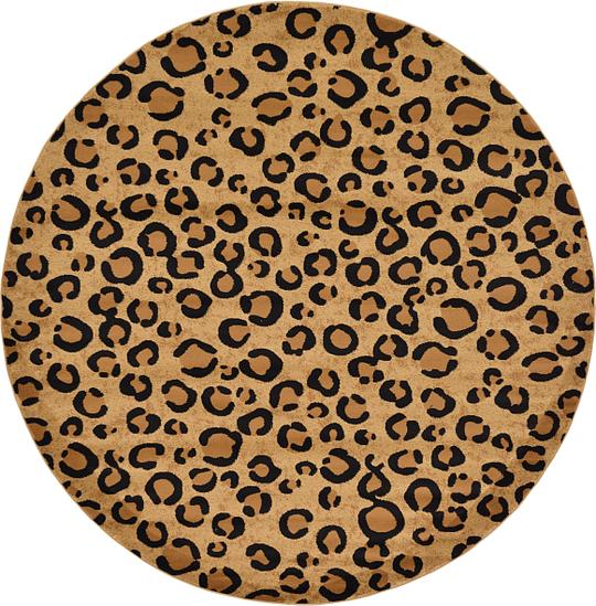 Light Brown 8 X 8 Safari Round Rug Area Rugs Esalerugs
