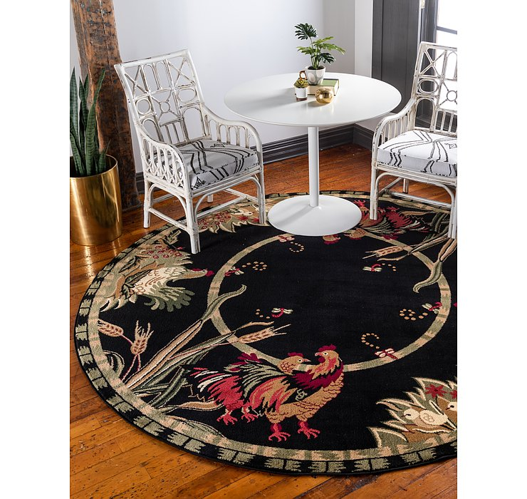 8' x 8' Country Round Rug