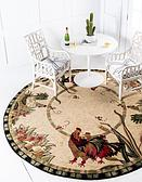 8' x 8' Country Round Rug thumbnail image 1