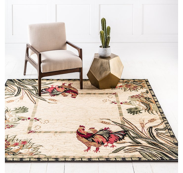 6' x 6' Country Square Rug