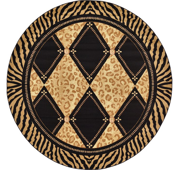 Light Brown Savannah Round Rug
