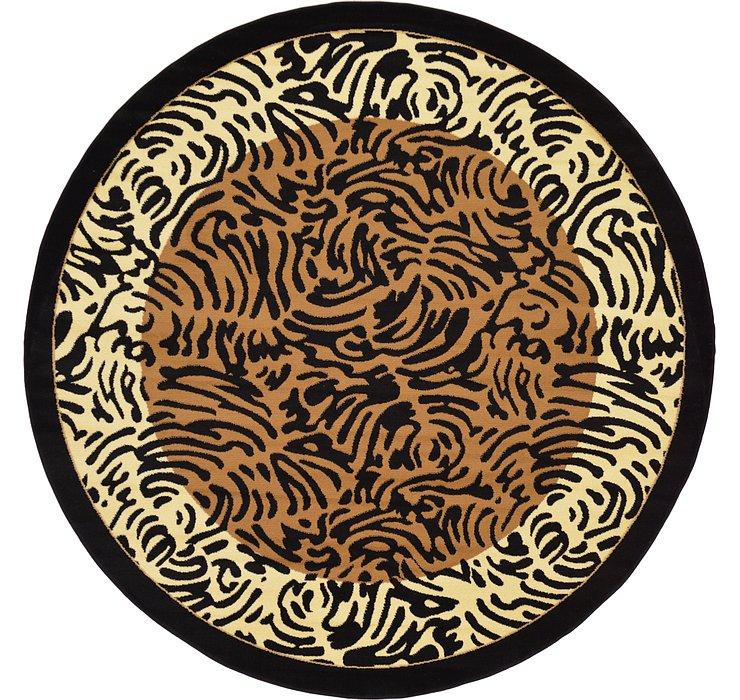 Light Brown Savannah Round Rug
