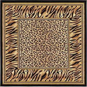 Unique Loom 6' x 6' Wildlife Square Rug