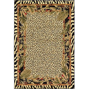 Unique Loom 6' x 9' Wildlife Rug