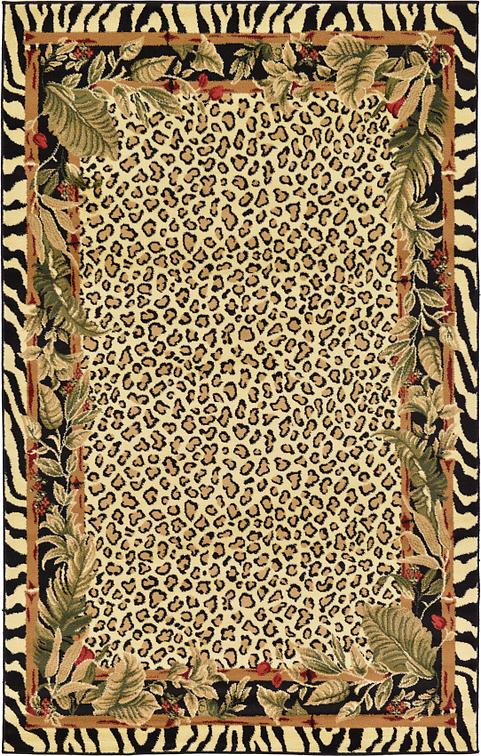 cream 5' x 8' safari rug   area rugs   esalerugs
