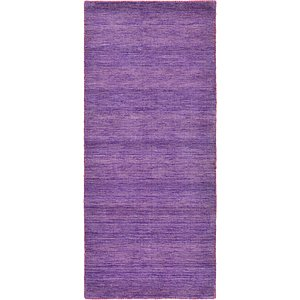 Unique Loom 2' 7 x 6' 7 Solid Gava Runner Rug