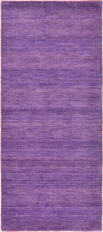 Purple 80cm X 200cm Solid Gabbeh Runner Rug Area Rugs