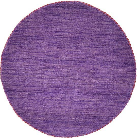 Purple Circle Rugs: Purple 70cm X 70cm Solid Gabbeh Round Rug