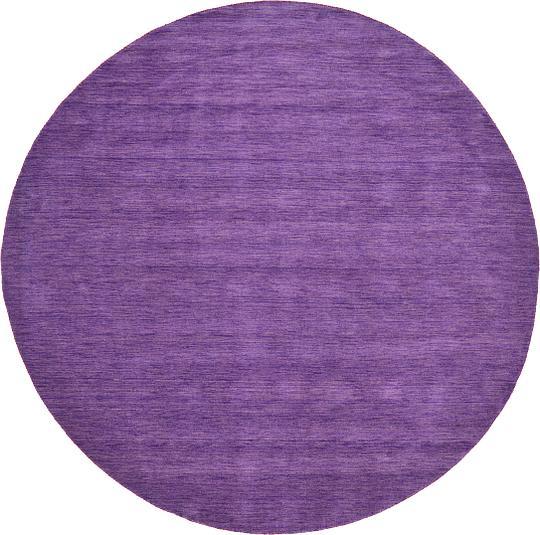 Purple 300cm X 300cm Solid Gabbeh Round Rug Oriental