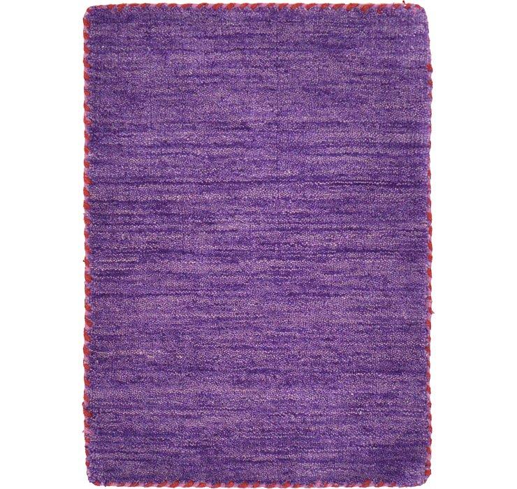 Purple Solid Gabbeh Rug