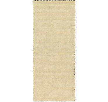 79x201 Solid Gabbeh Rug