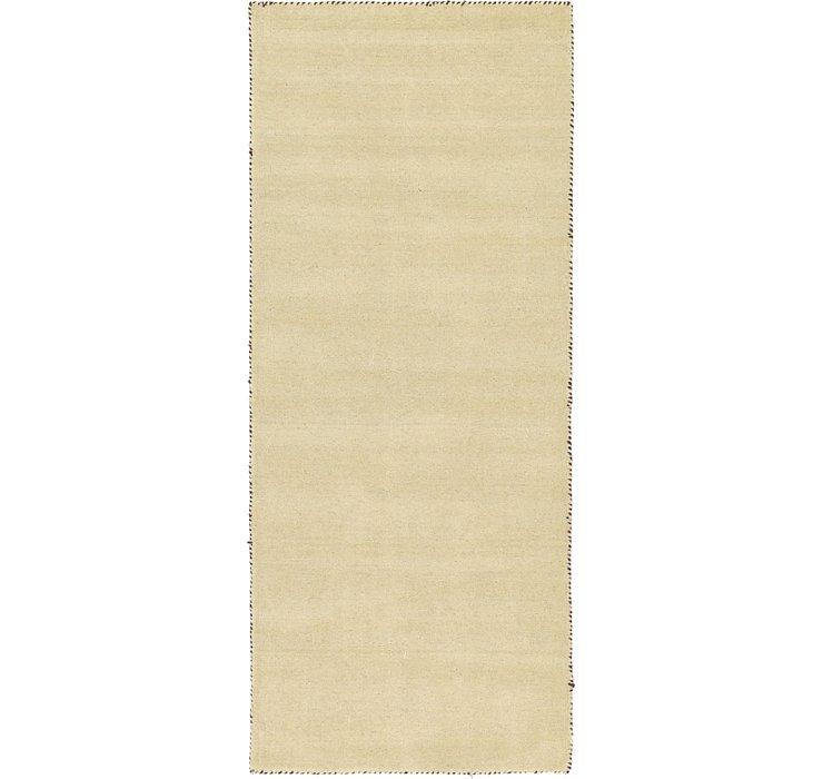 80cm x 200cm Solid Gabbeh Runner Rug
