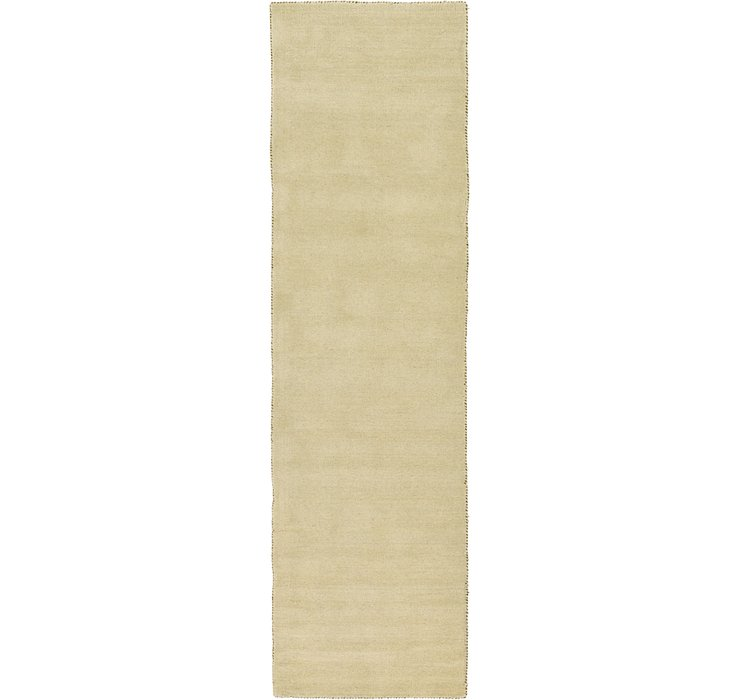 HandKnotted 2' 7 x 9' 10 Solid Gabbeh Runner Rug