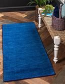 HandKnotted 2' 7 x 9' 10 Solid Gava Runner Rug thumbnail image 2