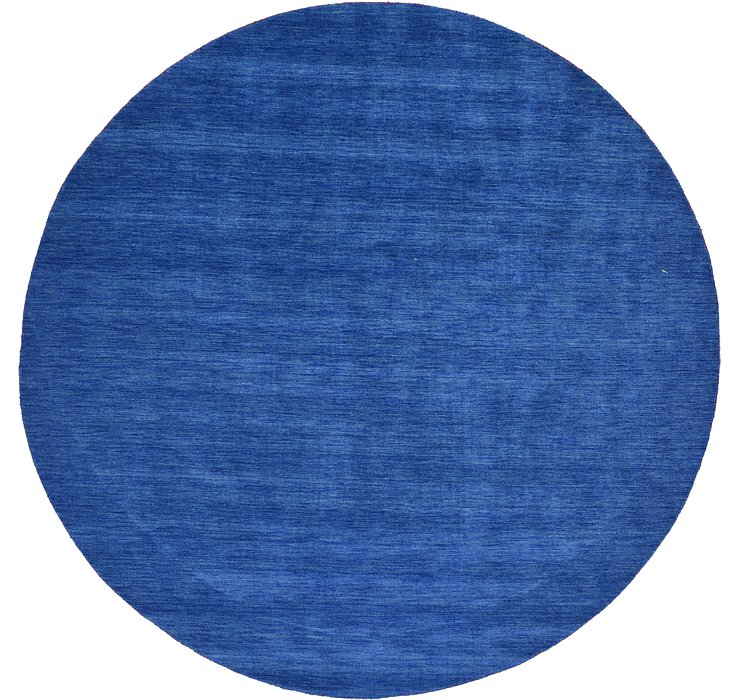 HandKnotted 9' 10 x 9' 10 Solid Gabbeh Round Rug