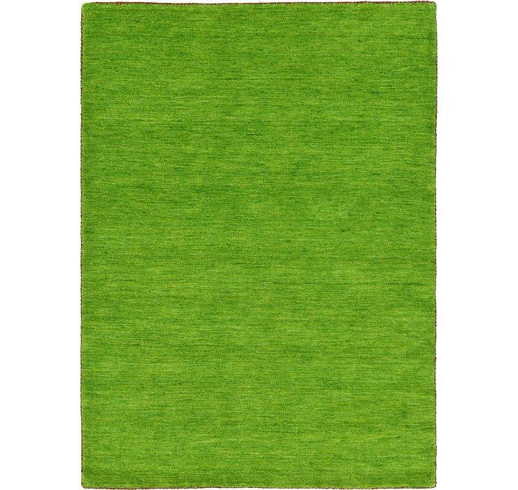 Light Green Solid Gabbeh Rug