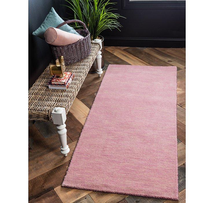 Pink Solid Gabbeh Runner Rug