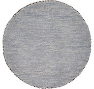 Link to 2' 4 x 2' 4 Solid Gabbeh Round Rug