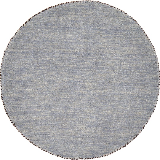 Gray 2 4 X 2 4 Solid Gabbeh Round Rug Area Rugs