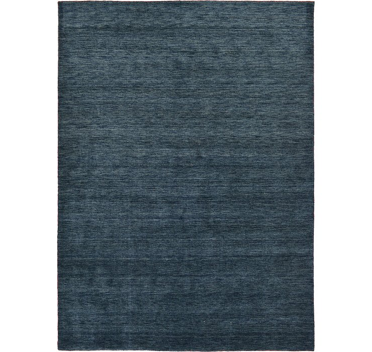 Navy Blue Solid Gabbeh Rug