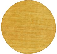 Link to HandKnotted 9' 10 x 9' 10 Solid Gava Round Rug