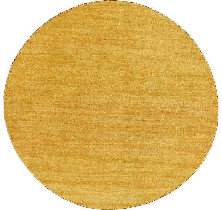 9' 10 x 9' 10 Solid Gabbeh Round Rug
