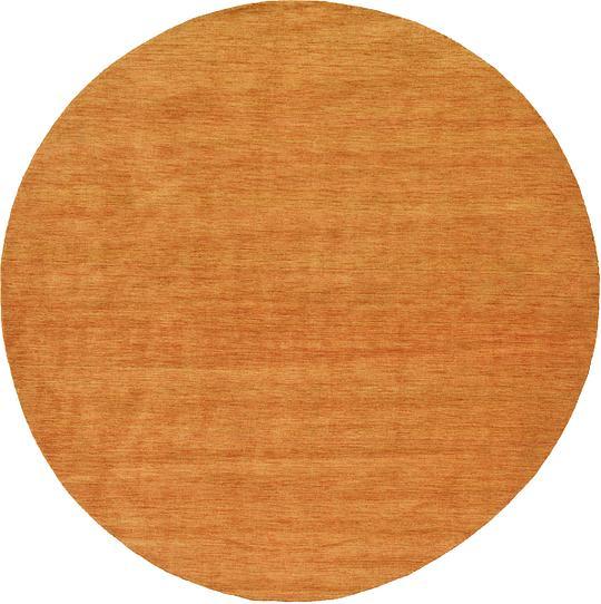 Shop Oriental Persian Gabbeh Shades Of Orange Hand Knotted: Orange 300cm X 300cm Solid Gabbeh Round Rug