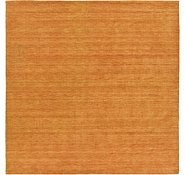 Link to 9' 10 x 9' 10 Solid Gabbeh Square Rug
