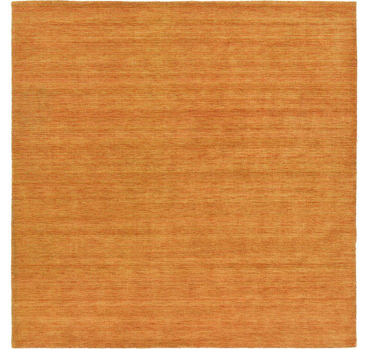 9' 10 x 9' 10 Solid Gabbeh Square Rug