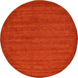 Unique Loom 9' 10 x 9' 10 Solid Gava Round Rug