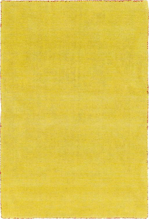 Yellow 100cm X 160cm Solid Gabbeh Rug Area Rugs Au Rugs