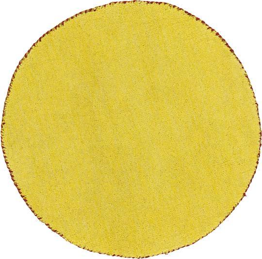 Yellow 70cm X 70cm Solid Gabbeh Round Rug Area Rugs Au