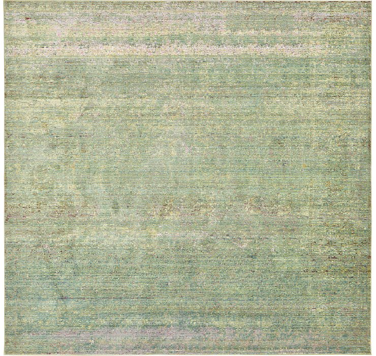 Green Alexis Square Rug